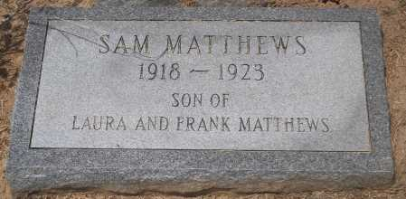 MATTHEWS, SAM - Franklin County, Louisiana | SAM MATTHEWS - Louisiana Gravestone Photos