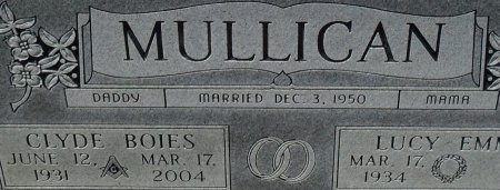 MULLICAN, CLYDE BOIES (CLOSE UP) - Franklin County, Louisiana | CLYDE BOIES (CLOSE UP) MULLICAN - Louisiana Gravestone Photos