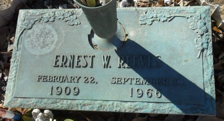 REEVES, ERNEST W - Franklin County, Louisiana | ERNEST W REEVES - Louisiana Gravestone Photos