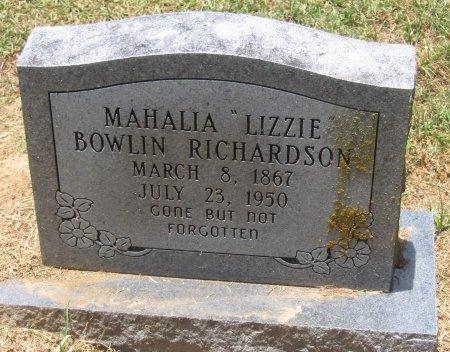 "RICHARDSON, MAHALIA ""LIZZIE"" - Franklin County, Louisiana   MAHALIA ""LIZZIE"" RICHARDSON - Louisiana Gravestone Photos"