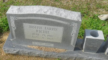 RICHIE, JOSEPH FARRIS (CLOSE UP) - Franklin County, Louisiana | JOSEPH FARRIS (CLOSE UP) RICHIE - Louisiana Gravestone Photos