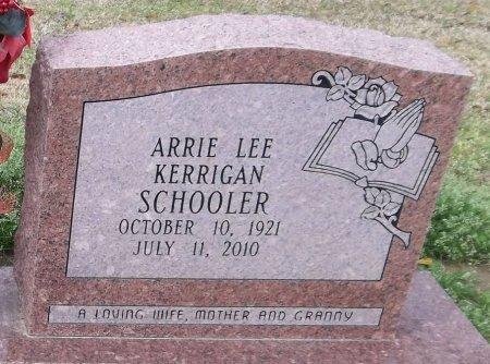 SCHOOLER, ARRIE LEE (CLOSE UP) - Franklin County, Louisiana | ARRIE LEE (CLOSE UP) SCHOOLER - Louisiana Gravestone Photos