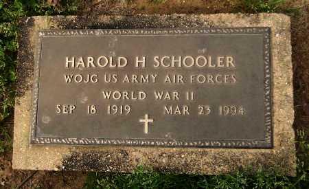SCHOOLER  , HAROLD H (VETERAN WWII) - Franklin County, Louisiana   HAROLD H (VETERAN WWII) SCHOOLER   - Louisiana Gravestone Photos