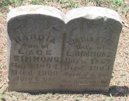 SIMMONS, HARDIA - Franklin County, Louisiana | HARDIA SIMMONS - Louisiana Gravestone Photos