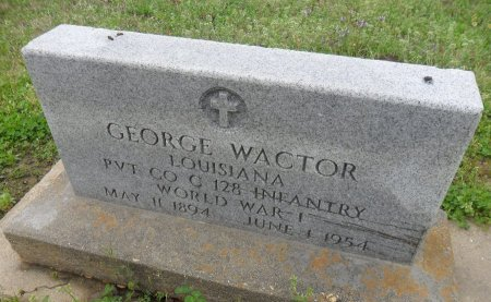 WACTOR  , GEORGE  (VETERAN WWI) - Franklin County, Louisiana   GEORGE  (VETERAN WWI) WACTOR   - Louisiana Gravestone Photos