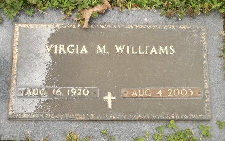 WILLIAMS, VIRGIA M (CLOSE UP) - Franklin County, Louisiana | VIRGIA M (CLOSE UP) WILLIAMS - Louisiana Gravestone Photos