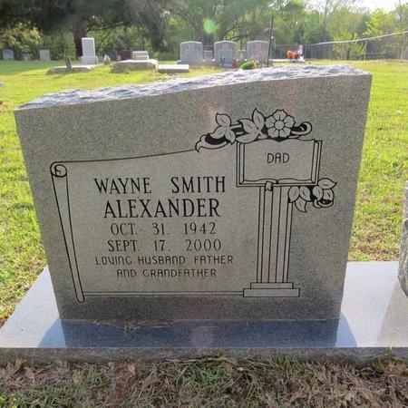 ALEXANDER, WAYNE SMITH - Grant County, Louisiana | WAYNE SMITH ALEXANDER - Louisiana Gravestone Photos
