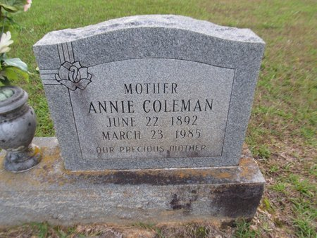 COLEMAN, ANNIE - Grant County, Louisiana | ANNIE COLEMAN - Louisiana Gravestone Photos