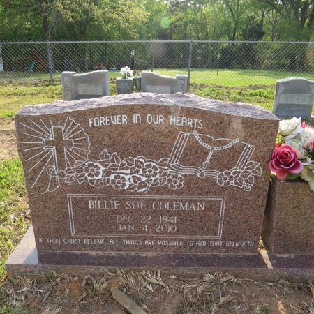 ARRINGTON COLEMAN, BILLIE SUE - Grant County, Louisiana | BILLIE SUE ARRINGTON COLEMAN - Louisiana Gravestone Photos