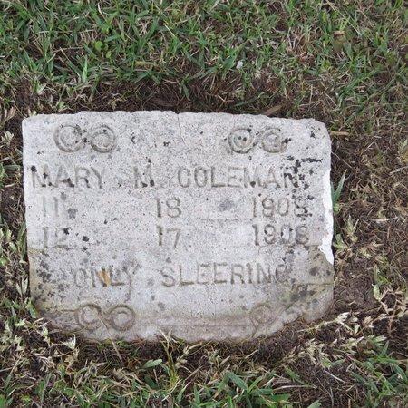 COLEMAN, MARY M - Grant County, Louisiana | MARY M COLEMAN - Louisiana Gravestone Photos