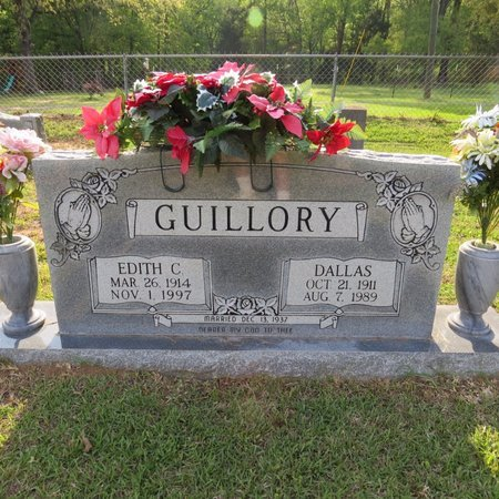 COLEMAN GUILLORY, EDITH FRANCES - Grant County, Louisiana   EDITH FRANCES COLEMAN GUILLORY - Louisiana Gravestone Photos