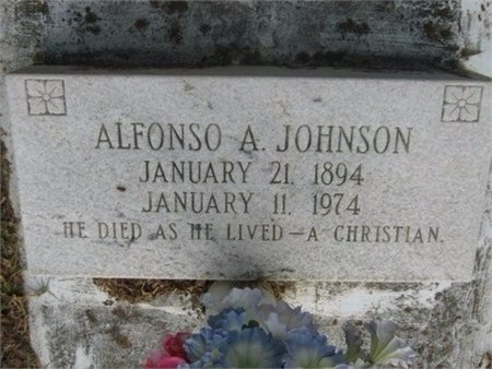 JOHNSON, ALFONSO A - Grant County, Louisiana | ALFONSO A JOHNSON - Louisiana Gravestone Photos