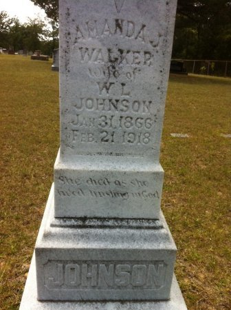 WALKER JOHNSON, AMANDA JOSEPHINE (CLOSE UP) - Grant County, Louisiana | AMANDA JOSEPHINE (CLOSE UP) WALKER JOHNSON - Louisiana Gravestone Photos