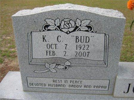 "JOHNSON, K C ""BUD"" (CLOSE UP) - Grant County, Louisiana | K C ""BUD"" (CLOSE UP) JOHNSON - Louisiana Gravestone Photos"