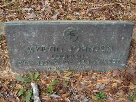 JOHNSON, MYRVIN (VETERAN WWII) - Grant County, Louisiana | MYRVIN (VETERAN WWII) JOHNSON - Louisiana Gravestone Photos