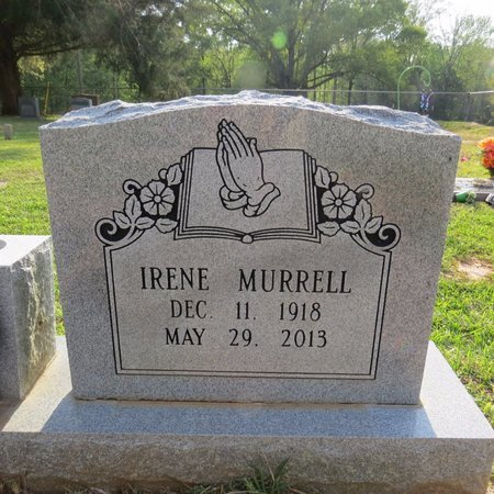 MURRELL, IRENE (CLOSE UP) - Grant County, Louisiana | IRENE (CLOSE UP) MURRELL - Louisiana Gravestone Photos