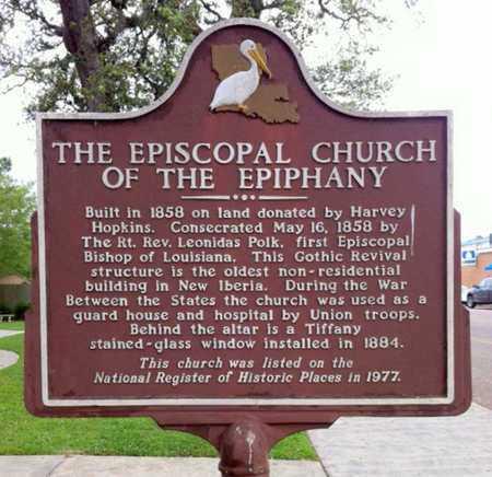 * HISTORICAL MARKER,  - Iberia County, Louisiana |  * HISTORICAL MARKER - Louisiana Gravestone Photos