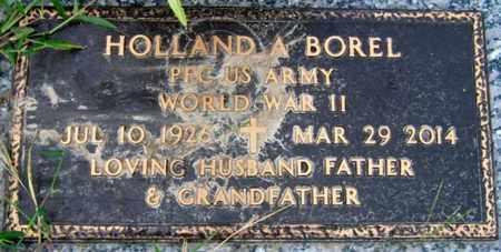 BOREL, HOLLAND A (VETERAN WWII) - Iberia County, Louisiana | HOLLAND A (VETERAN WWII) BOREL - Louisiana Gravestone Photos