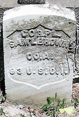 BROWN  , SAMUEL  (VETERAN UNION) - Iberia County, Louisiana | SAMUEL  (VETERAN UNION) BROWN   - Louisiana Gravestone Photos