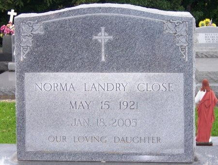 LANDRY CLOSE, NORMA - Iberia County, Louisiana | NORMA LANDRY CLOSE - Louisiana Gravestone Photos