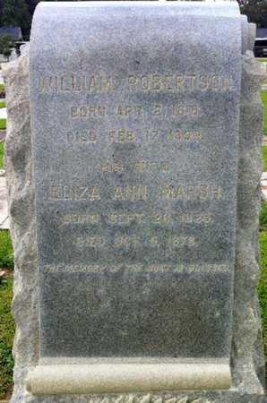 MARSH ROBERTSON, ELIZA ANN - Iberia County, Louisiana | ELIZA ANN MARSH ROBERTSON - Louisiana Gravestone Photos