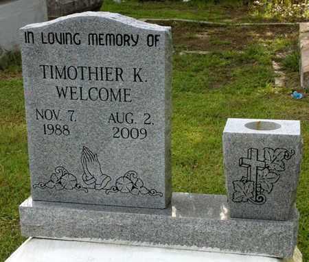 WELCOME, TIMOTHIER K - Iberia County, Louisiana | TIMOTHIER K WELCOME - Louisiana Gravestone Photos