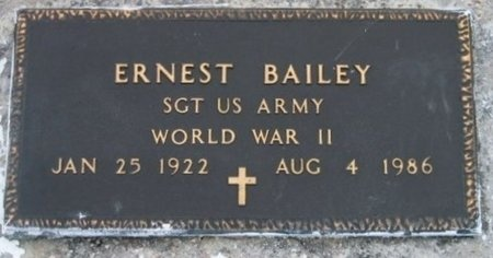 BAILEY, ERNEST  (VETERAN WWII) - Iberville County, Louisiana   ERNEST  (VETERAN WWII) BAILEY - Louisiana Gravestone Photos