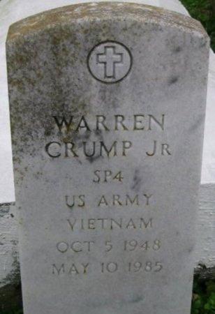 CRUMP, WARREN, JR  (VETERAN VIET) - Iberville County, Louisiana   WARREN, JR  (VETERAN VIET) CRUMP - Louisiana Gravestone Photos