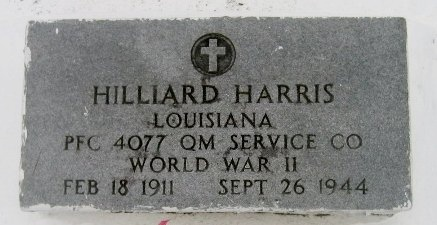 HARRIS, HILLIARD  (VETERAN WWII) - Iberville County, Louisiana   HILLIARD  (VETERAN WWII) HARRIS - Louisiana Gravestone Photos
