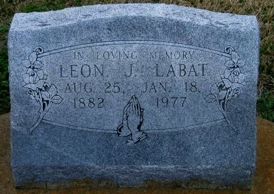 LABAT, LEON J - Iberville County, Louisiana   LEON J LABAT - Louisiana Gravestone Photos