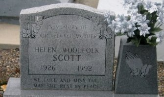 SCOTT, HELEN - Iberville County, Louisiana   HELEN SCOTT - Louisiana Gravestone Photos