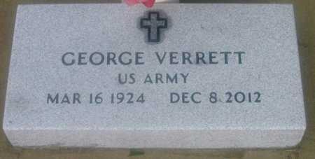 VERRETT, GEORGE  (VETERAN) - Iberville County, Louisiana   GEORGE  (VETERAN) VERRETT - Louisiana Gravestone Photos