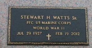 WATTS, STEWART H, SR  (VETERAN WWII) - Iberville County, Louisiana | STEWART H, SR  (VETERAN WWII) WATTS - Louisiana Gravestone Photos