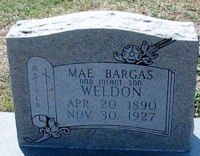 BARGAS WELDON, MAE - Iberville County, Louisiana | MAE BARGAS WELDON - Louisiana Gravestone Photos