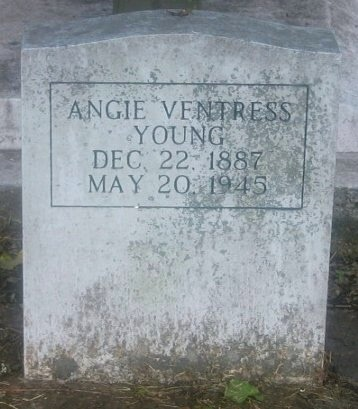 VENTRESS YOUNG, ANGIE - Iberville County, Louisiana | ANGIE VENTRESS YOUNG - Louisiana Gravestone Photos
