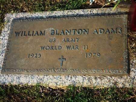 ADAMS, WILLIAM BLANTON (VETERAN WWII) - Jackson County, Louisiana | WILLIAM BLANTON (VETERAN WWII) ADAMS - Louisiana Gravestone Photos