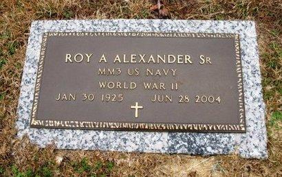 ALEXANDER, ROY A,SR (VETERAN WWII) - Jackson County, Louisiana   ROY A,SR (VETERAN WWII) ALEXANDER - Louisiana Gravestone Photos