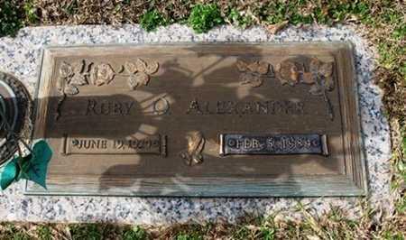 ALEXANDER, RUBY O - Jackson County, Louisiana | RUBY O ALEXANDER - Louisiana Gravestone Photos