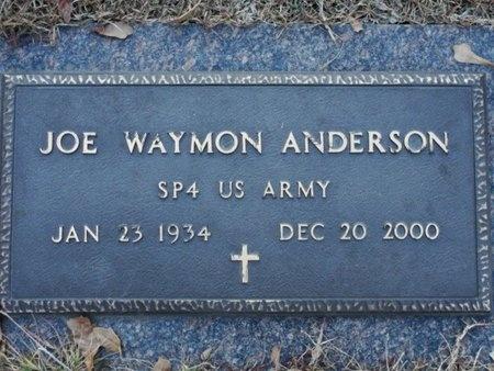 ANDERSON, JOE WAYMON  (VETERAN) - Jackson County, Louisiana   JOE WAYMON  (VETERAN) ANDERSON - Louisiana Gravestone Photos