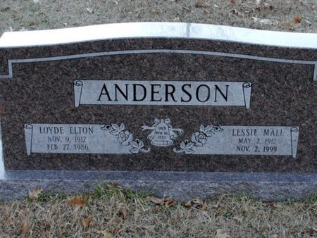 ANDERSON, LOYDE ELTON - Jackson County, Louisiana | LOYDE ELTON ANDERSON - Louisiana Gravestone Photos