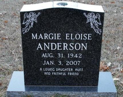ANDERSON, MARGIE ELOISE - Jackson County, Louisiana | MARGIE ELOISE ANDERSON - Louisiana Gravestone Photos