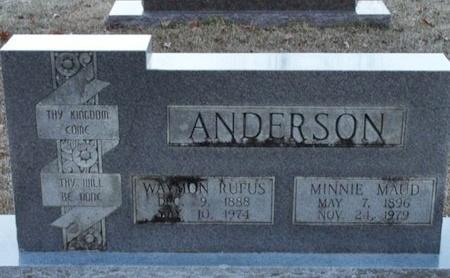 ANDERSON, WAYMON RUFUS - Jackson County, Louisiana | WAYMON RUFUS ANDERSON - Louisiana Gravestone Photos