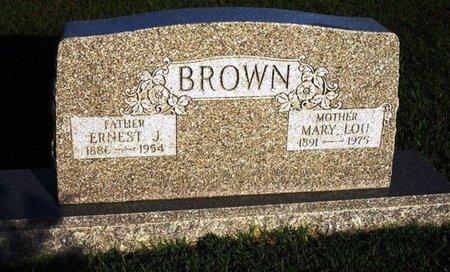 BROWN, ERNEST J - Jackson County, Louisiana   ERNEST J BROWN - Louisiana Gravestone Photos