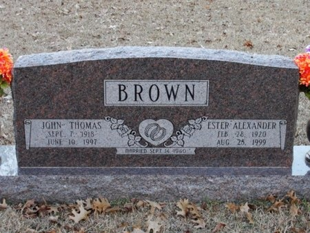 ALEXANDER BROWN, ESTER - Jackson County, Louisiana | ESTER ALEXANDER BROWN - Louisiana Gravestone Photos
