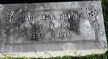 BROWN, MARY LENA - Jackson County, Louisiana   MARY LENA BROWN - Louisiana Gravestone Photos