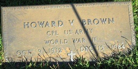 BROWN, HOWARD V (VETERAN WWII) - Jackson County, Louisiana   HOWARD V (VETERAN WWII) BROWN - Louisiana Gravestone Photos