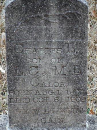 CALOR, CHARLES L - Jackson County, Louisiana   CHARLES L CALOR - Louisiana Gravestone Photos