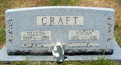 CRAFT, TILLSON - Jackson County, Louisiana | TILLSON CRAFT - Louisiana Gravestone Photos