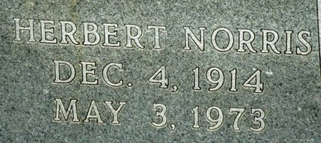 HAMPTON, HERBERT NORRIS (CLOSEUP_ - Jackson County, Louisiana | HERBERT NORRIS (CLOSEUP_ HAMPTON - Louisiana Gravestone Photos