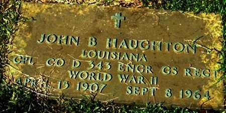 HAUGHTON, JOHN B (VETERAN WW II) - Jackson County, Louisiana | JOHN B (VETERAN WW II) HAUGHTON - Louisiana Gravestone Photos